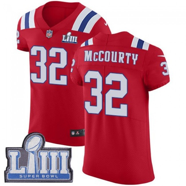 Nike Patriots #32 Devin McCourty Red Alternate Super Bowl LIII Bound Men's Stitched NFL Vapor Untouchable Elite Jersey