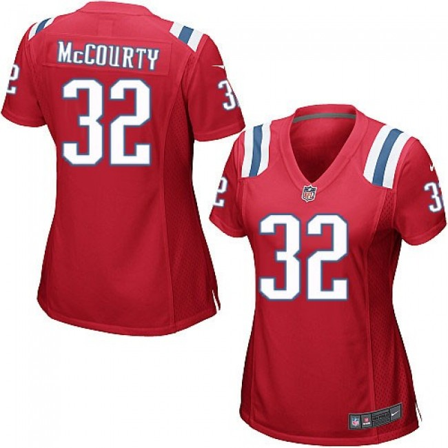 Women's Patriots #32 Devin McCourty Red Alternate Stitched NFL Elite Jersey