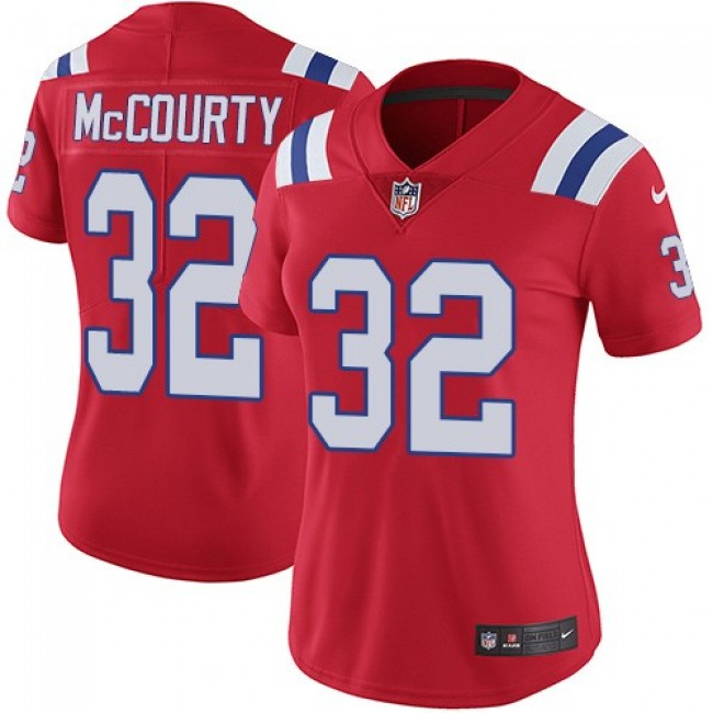 Women's Patriots #32 Devin McCourty Red Alternate Stitched NFL Vapor Untouchable Limited Jersey