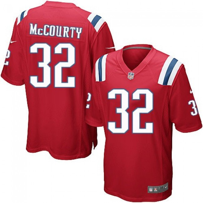 New England Patriots #32 Devin McCourty Red Alternate Youth Stitched NFL Elite Jersey