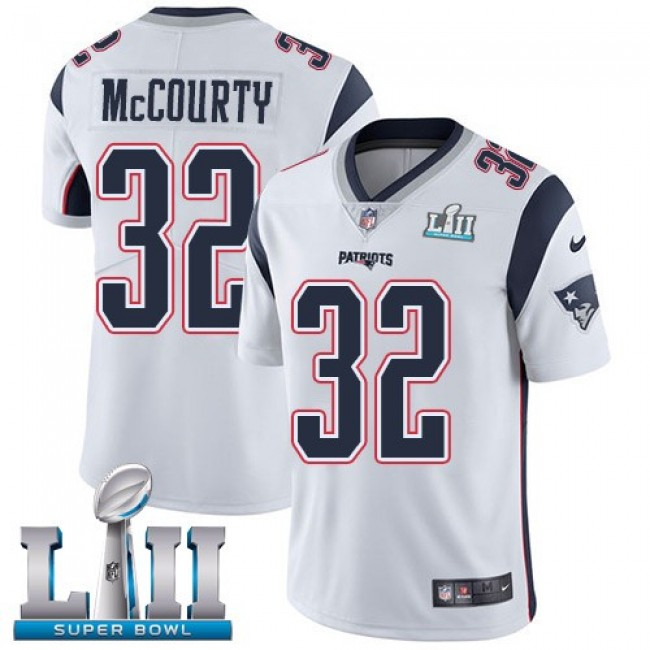 New England Patriots #32 Devin McCourty White Super Bowl LII Youth Stitched NFL Vapor Untouchable Limited Jersey