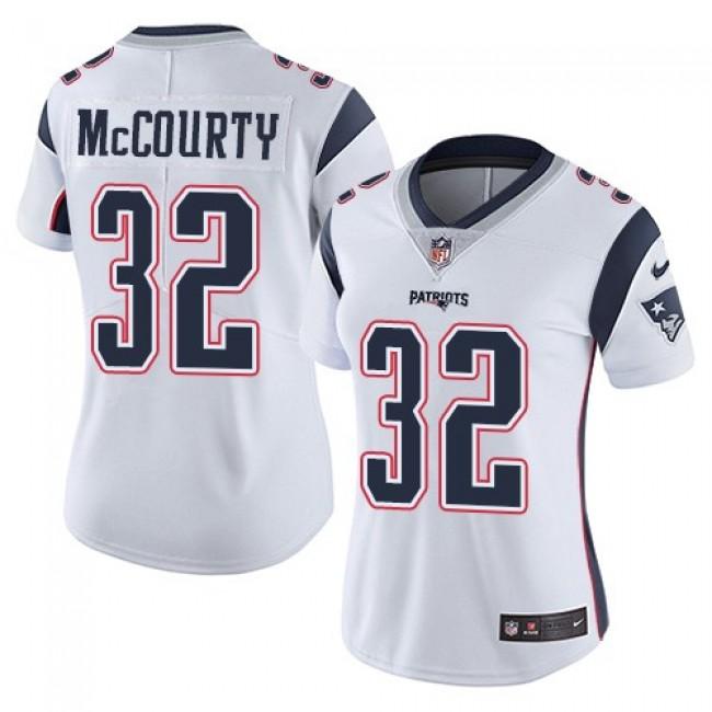 Women's Patriots #32 Devin McCourty White Stitched NFL Vapor Untouchable Limited Jersey