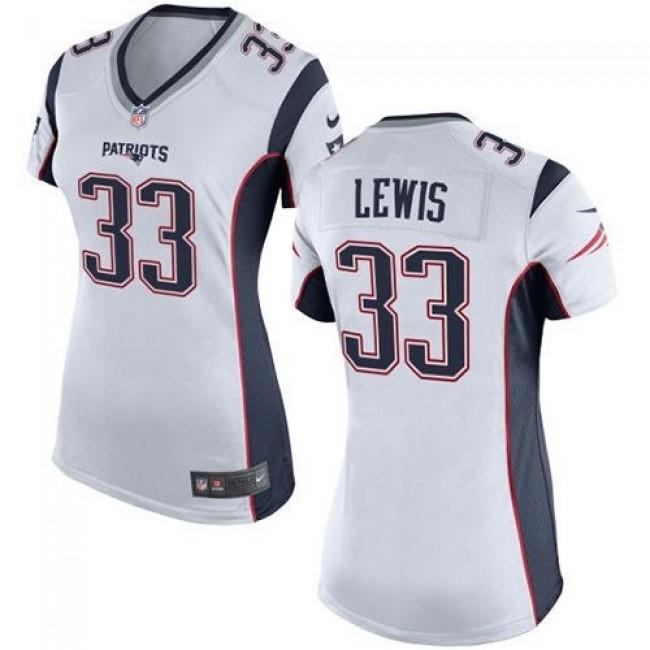 Women's Patriots #33 Dion Lewis White Stitched NFL New Elite Jersey