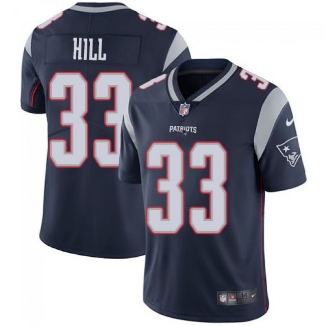 Nike Patriots #33 Jeremy Hill Navy Blue Team Color Men's Stitched NFL Vapor Untouchable Limited Jersey