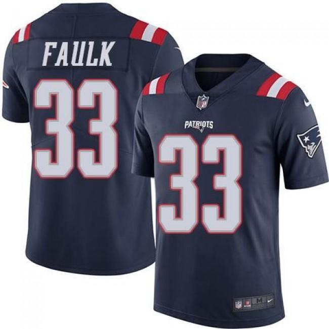 Nike Patriots #33 Kevin Faulk Navy Blue Men's Stitched NFL Limited Rush Jersey