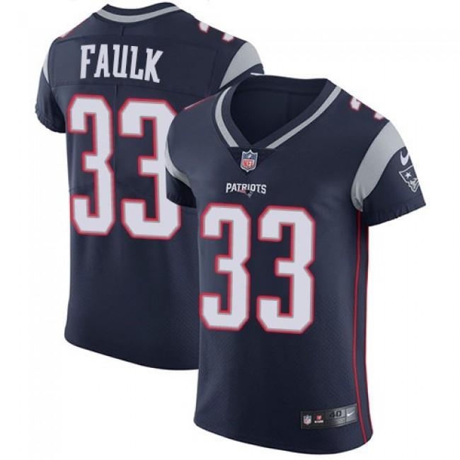 Nike Patriots #33 Kevin Faulk Navy Blue Team Color Men's Stitched NFL Vapor Untouchable Elite Jersey