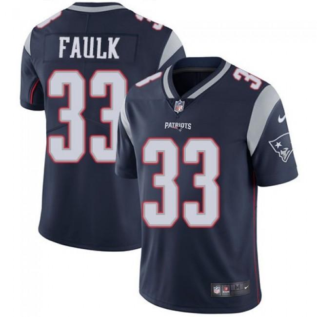Nike Patriots #33 Kevin Faulk Navy Blue Team Color Men's Stitched NFL Vapor Untouchable Limited Jersey