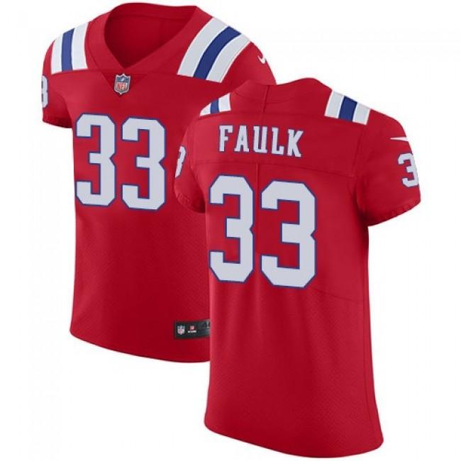 Nike Patriots #33 Kevin Faulk Red Alternate Men's Stitched NFL Vapor Untouchable Elite Jersey