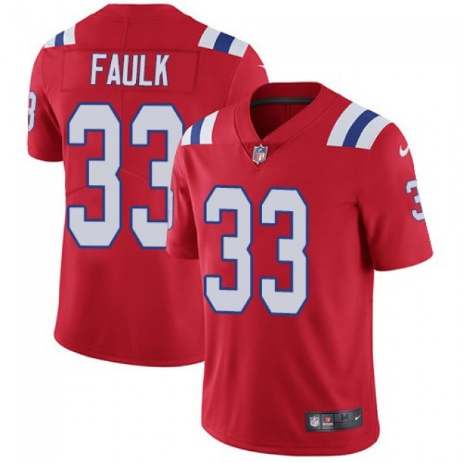 Nike Patriots #33 Kevin Faulk Red Alternate Men's Stitched NFL Vapor Untouchable Limited Jersey