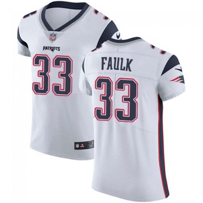 Nike Patriots #33 Kevin Faulk White Men's Stitched NFL Vapor Untouchable Elite Jersey