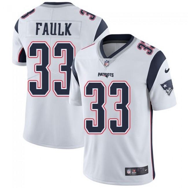 Nike Patriots #33 Kevin Faulk White Men's Stitched NFL Vapor Untouchable Limited Jersey