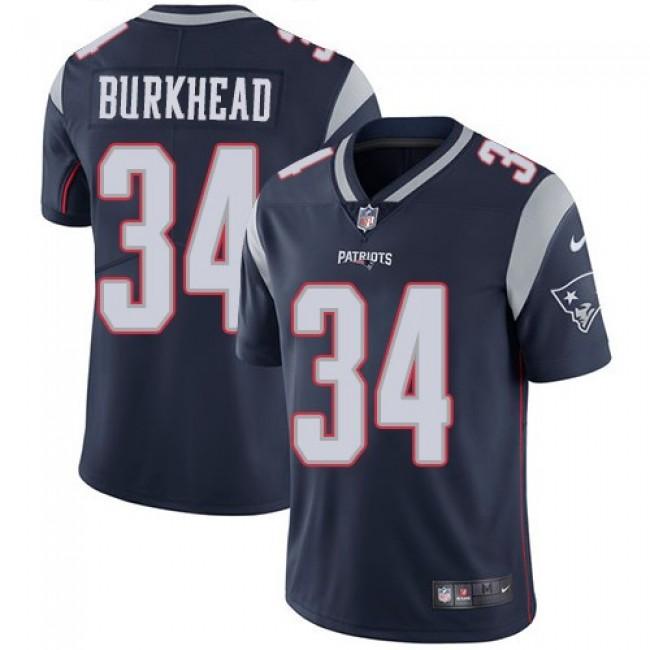Nike Patriots #34 Rex Burkhead Navy Blue Team Color Men's Stitched NFL Vapor Untouchable Limited Jersey