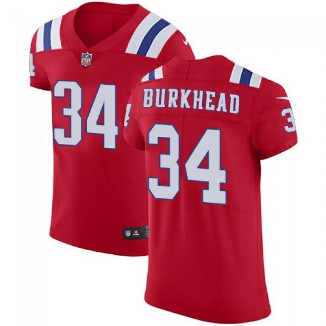 Nike Patriots #34 Rex Burkhead Red Alternate Men's Stitched NFL Vapor Untouchable Elite Jersey