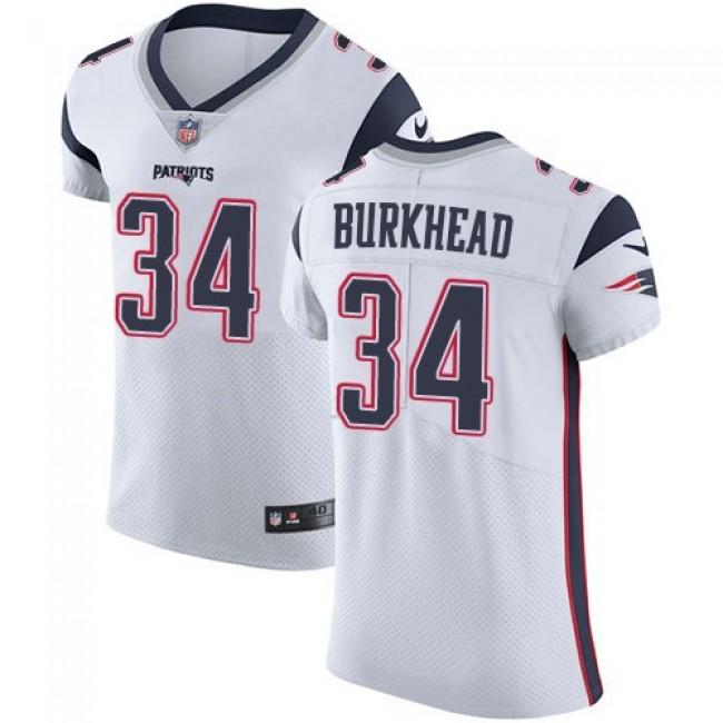 Nike Patriots #34 Rex Burkhead White Men's Stitched NFL Vapor Untouchable Elite Jersey
