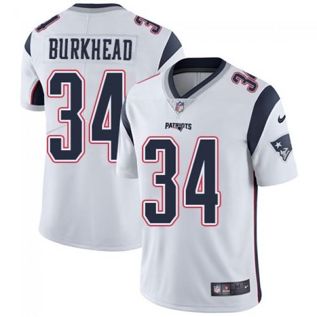 Nike Patriots #34 Rex Burkhead White Men's Stitched NFL Vapor Untouchable Limited Jersey