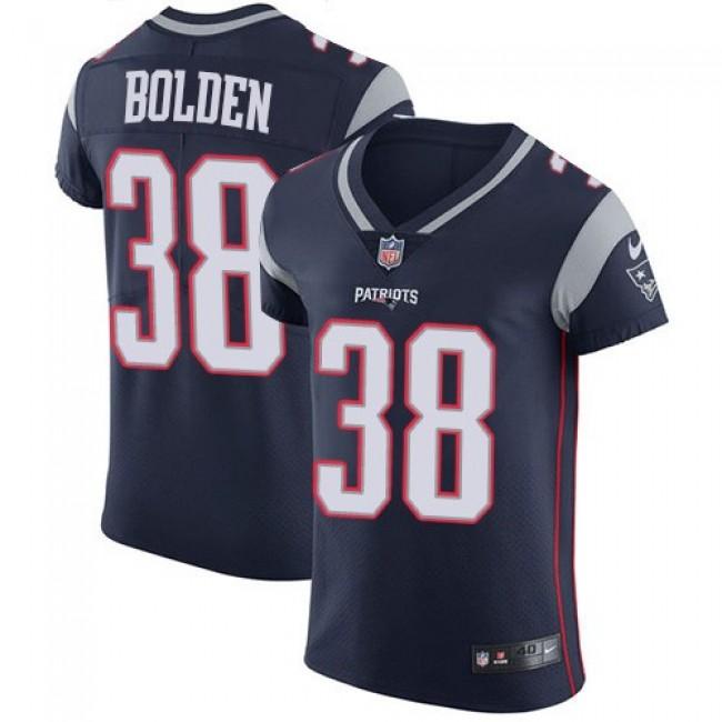 Nike Patriots #38 Brandon Bolden Navy Blue Team Color Men's Stitched NFL Vapor Untouchable Elite Jersey