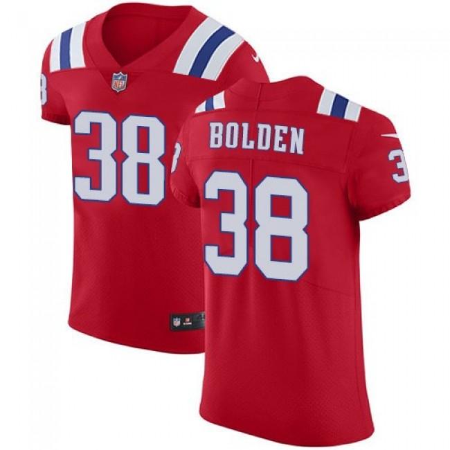 Nike Patriots #38 Brandon Bolden Red Alternate Men's Stitched NFL Vapor Untouchable Elite Jersey