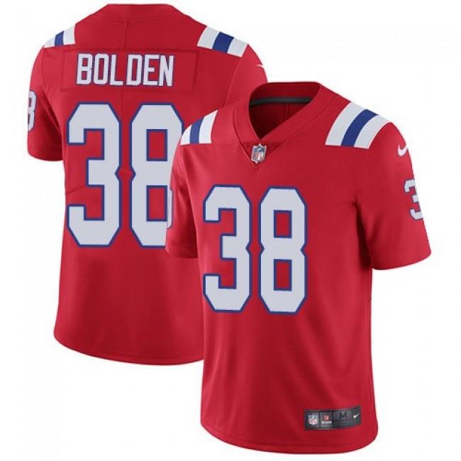 Nike Patriots #38 Brandon Bolden Red Alternate Men's Stitched NFL Vapor Untouchable Limited Jersey