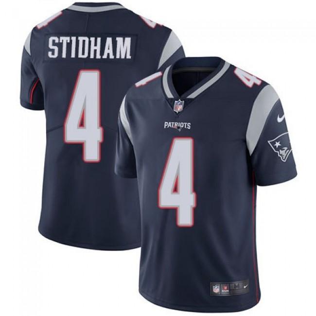 Nike Patriots #4 Jarrett Stidham Navy Blue Team Color Men's Stitched NFL Vapor Untouchable Limited Jersey