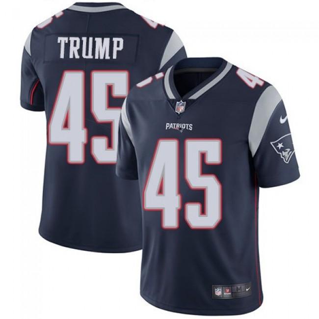 Nike Patriots #45 Donald Trump Navy Blue Team Color Men's Stitched NFL Vapor Untouchable Limited Jersey