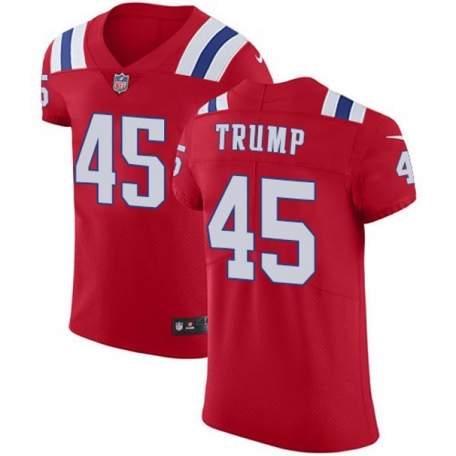 Nike Patriots #45 Donald Trump Red Alternate Men's Stitched NFL Vapor Untouchable Elite Jersey