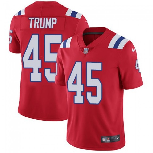 New England Patriots #45 Donald Trump Red Alternate Youth Stitched NFL Vapor Untouchable Limited Jersey