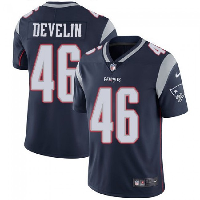 New England Patriots #46 James Develin Navy Blue Team Color Youth Stitched NFL Vapor Untouchable Limited Jersey