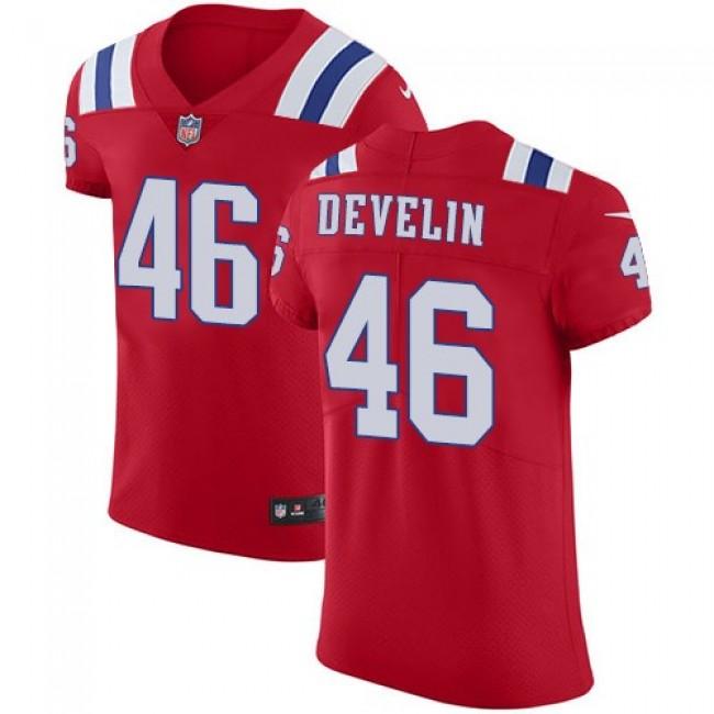 Nike Patriots #46 James Develin Red Alternate Men's Stitched NFL Vapor Untouchable Elite Jersey