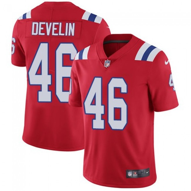 New England Patriots #46 James Develin Red Alternate Youth Stitched NFL Vapor Untouchable Limited Jersey