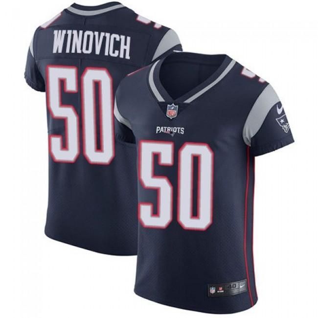 Nike Patriots #50 Chase Winovich Navy Blue Team Color Men's Stitched NFL Vapor Untouchable Elite Jersey