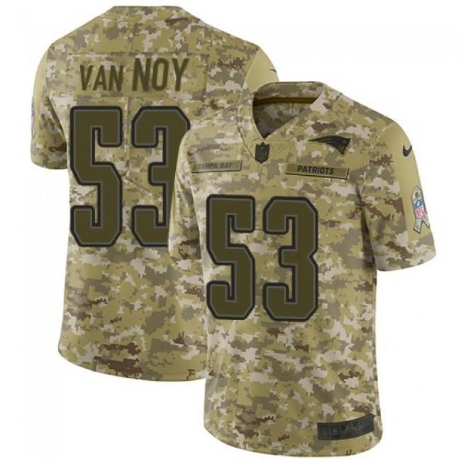 Nike Patriots #53 Kyle Van Noy Camo Men's Stitched NFL Limited 2018 Salute To Service Jersey