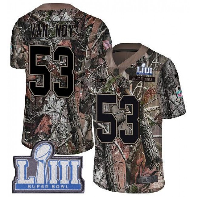 Nike Patriots #53 Kyle Van Noy Camo Super Bowl LIII Bound Men's Stitched NFL Limited Rush Realtree Jersey