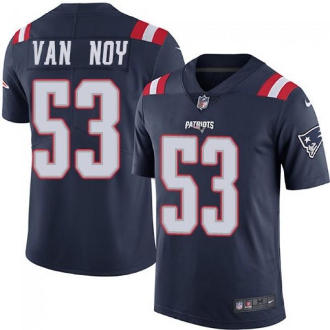 Nike Patriots #53 Kyle Van Noy Navy Blue Men's Stitched NFL Limited Rush Jersey