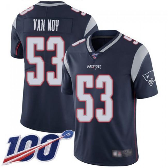 Nike Patriots #53 Kyle Van Noy Navy Blue Team Color Men's Stitched NFL 100th Season Vapor Limited Jersey