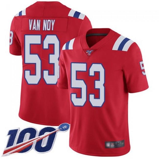 Nike Patriots #53 Kyle Van Noy Red Alternate Men's Stitched NFL 100th Season Vapor Limited Jersey