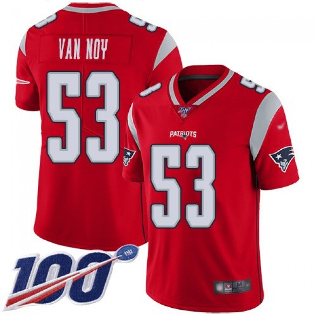 Nike Patriots #53 Kyle Van Noy Red Men's Stitched NFL Limited Inverted Legend 100th Season Jersey