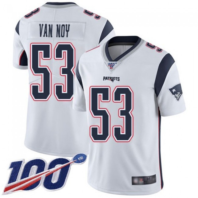 Nike Patriots #53 Kyle Van Noy White Men's Stitched NFL 100th Season Vapor Limited Jersey