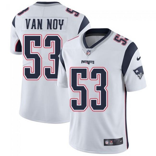 Nike Patriots #53 Kyle Van Noy White Men's Stitched NFL Vapor Untouchable Limited Jersey