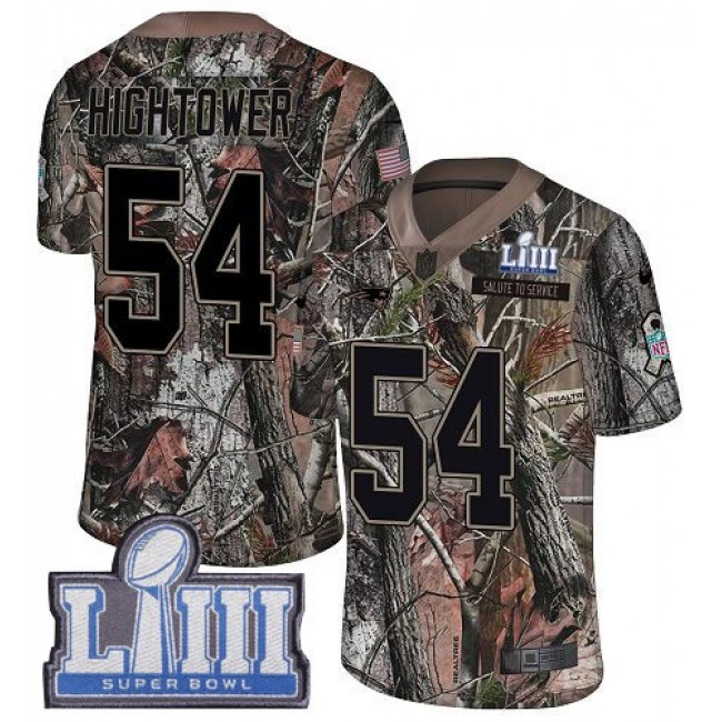 Nike Patriots #54 Dont'a Hightower Camo Super Bowl LIII Bound Men's Stitched NFL Limited Rush Realtree Jersey