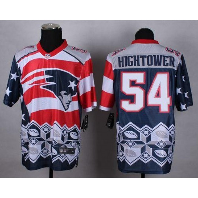 Nike Patriots #54 Dont'a Hightower Navy Blue Men's Stitched NFL Elite Noble Fashion Jersey