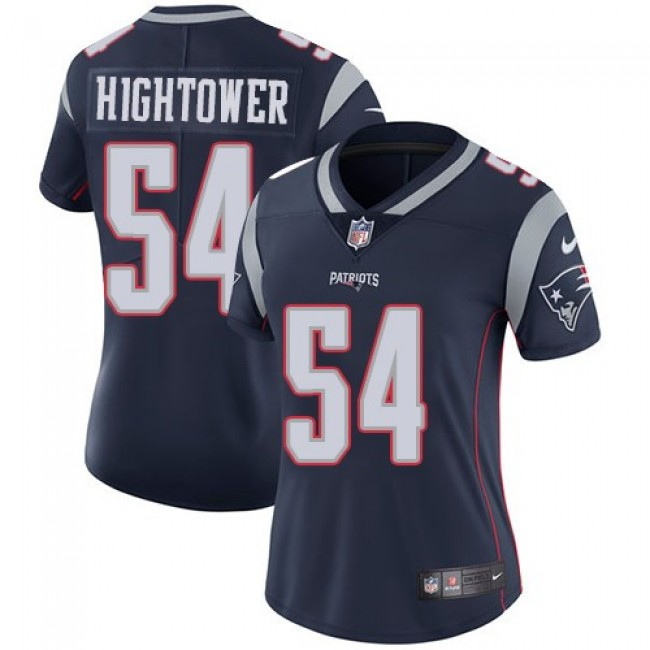 Women's Patriots #54 Dont'a Hightower Navy Blue Team Color Stitched NFL Vapor Untouchable Limited Jersey