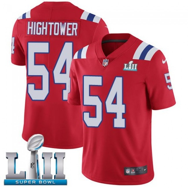 New England Patriots #54 Dont a Hightower Red Alternate Super Bowl LII Youth Stitched NFL Vapor Untouchable Limited Jersey