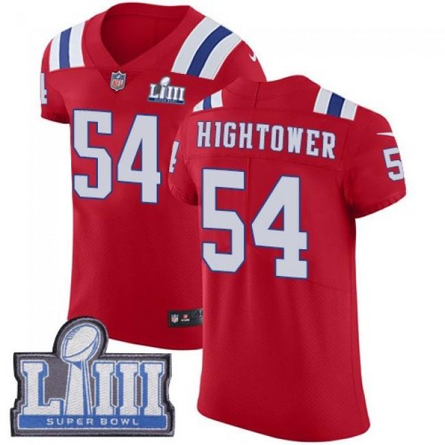 Nike Patriots #54 Dont'a Hightower Red Alternate Super Bowl LIII Bound Men's Stitched NFL Vapor Untouchable Elite Jersey
