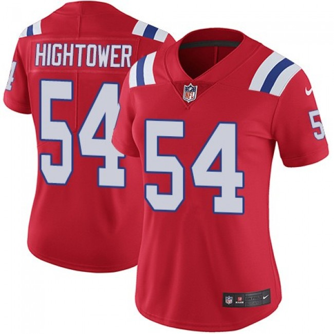 Women's Patriots #54 Dont'a Hightower Red Alternate Stitched NFL Vapor Untouchable Limited Jersey