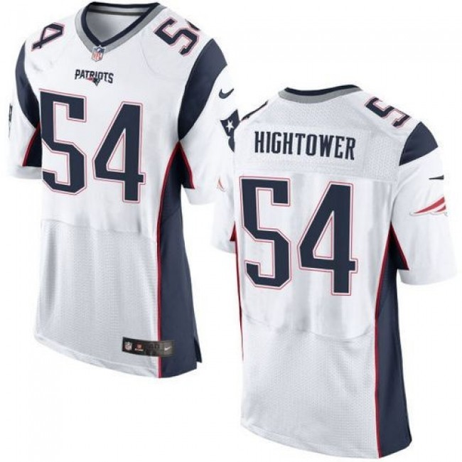 Nike Patriots #54 Dont'a Hightower White Men's Stitched NFL New Elite Jersey