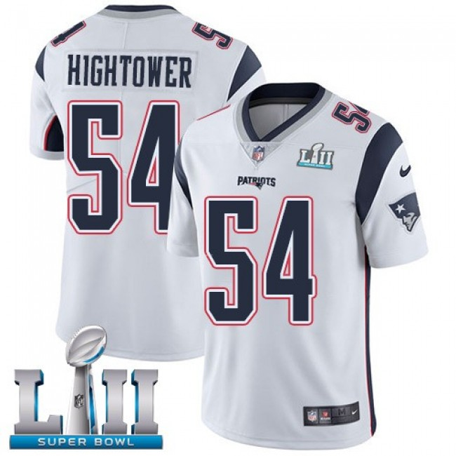 New England Patriots #54 Dont a Hightower White Super Bowl LII Youth Stitched NFL Vapor Untouchable Limited Jersey