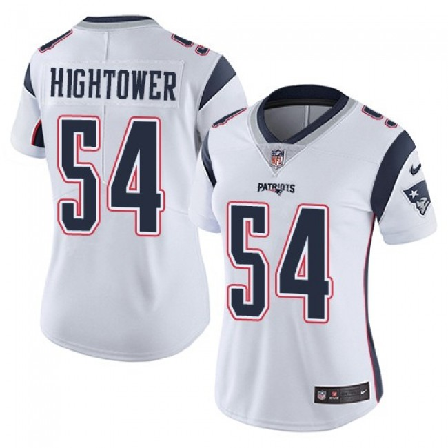 Women's Patriots #54 Dont'a Hightower White Stitched NFL Vapor Untouchable Limited Jersey