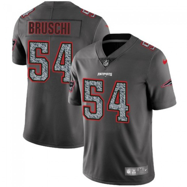 Nike Patriots #54 Tedy Bruschi Gray Static Men's Stitched NFL Vapor Untouchable Limited Jersey