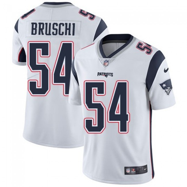 Nike Patriots #54 Tedy Bruschi White Men's Stitched NFL Vapor Untouchable Limited Jersey