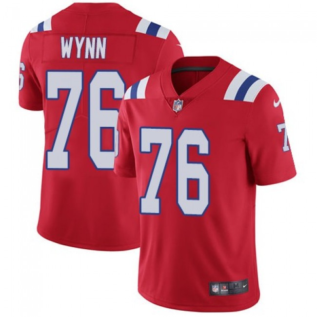 Nike Patriots #76 Isaiah Wynn Red Alternate Men's Stitched NFL Vapor Untouchable Limited Jersey